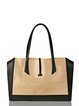 Yellow Medium Cowhide Leather Casual Tote