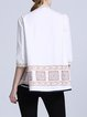 White Embroidered Simple Blouse