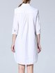Shift Casual Half Sleeve Cotton-blend Shirt Dress