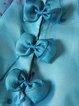 Blue Silk Stand Collar Sleeveless Sheath Mini Dress