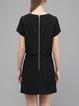Casual Short Sleeve Plain Mini Dress