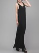 Black Casual Cotton-blend Maxi Dress