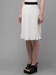 White A-line Casual Midi Skirt