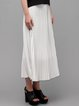 White Casual Chiffon Maxi Skirt