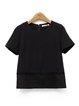 Short Sleeve Zipper H-line Simple T-Shirt