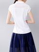 Casual Short Sleeve H-line Blouse