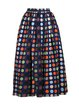Multicolor Sweet Cotton-blend Midi Skirt
