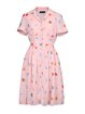 Pink A-line Sweet Printed Shirt Dress