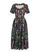 Pleated Short Sleeve Sweet Midi Dress