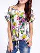 Multicolor Floral Silk Vintage Blouse