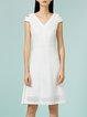 White Ruffled Sleeveless Midi Dress