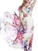 Pink Boho Floral Maxi Dress