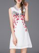 White Floral Vintage Mini Dress