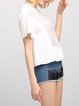 White Plain Shorts Sleeve Crew Neck Basic T-Shirt