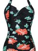 Black Polyester Padded One-Pieces&Tankini