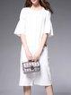 Simple Half Sleeve Plain Shirt Dress