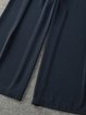 Dark Blue Polyester Folds Simple Jumpsuit