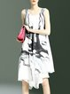Sleeveless Vintage Abstract Midi Dress