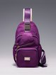 Purple Nylon Small Shoulder Bag