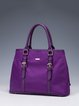 Purple Nylon Casual Zipper Satchel