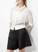 Black Work Polyester Culottes Pant
