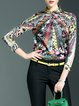 Multicolor Casual Geometric Blouse