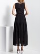 Black Sleeveless Tiered Chiffon Maxi Dress