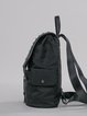 Black Medium Casual PU Backpack