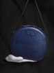 Blue Cowhide Leather Small Crossbody