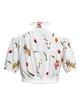 White Polyester Short Sleeve Cropped Jacket