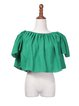 Green Off Shoulder Casual Blouse