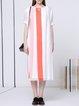 White Shift Statement Midi Dress
