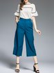 Blue Polyester Two Piece Work Jumpsuit