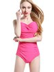Fuchsia Plain Straped One-Pieces&Tankini