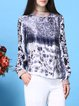 Floral Long Sleeve Printed Statement Blouse