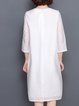 White Outdoor Linen Midi Dress