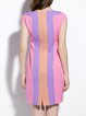 Pink Girly Sheath Stripes Mini Dress
