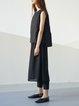 Black Simple Buttoned Midi Skirt