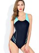 Black Spandex Straped Padded One-Piece