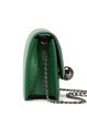 Green Casual Cowhide Leather Magnetic Crossbody