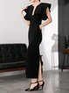 Polyester Vintage Sleeveless Maxi Dress