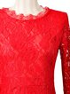 Red Slit Elegant Maxi Dress