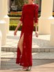 Red Slit Elegant Maxi Dress