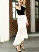 Black Mermaid Vintage Midi Skirt
