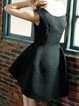 Black Vintage Asymmetric A-line Midi Dress