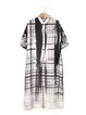 Multicolor Shift Work Stripes Shirt Dress