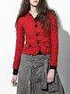 Red Statement Polyester Blazer