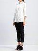 White H-line Shirt Collar 3/4 Sleeve Blouse
