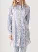 Light Blue Sweet Guipure Lace Long Sleeved Blouse