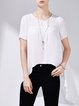 Short Sleeve Asymmetrical Simple Tunic